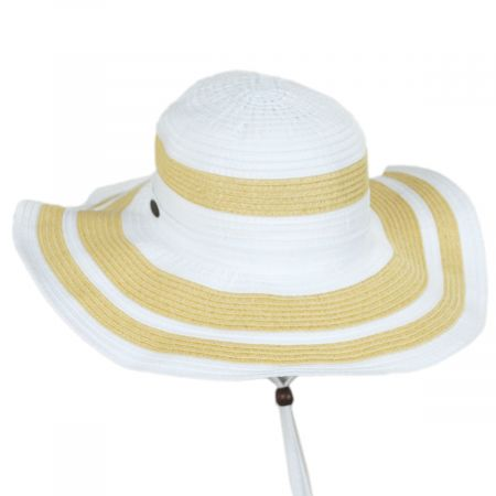Panama Jack Ribbon and Toyo Straw Swinger Sun Hat