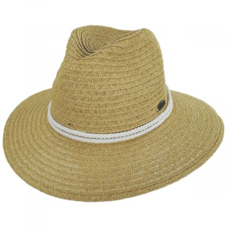 Costa Nova Toyo Straw Safari Fedora Hat