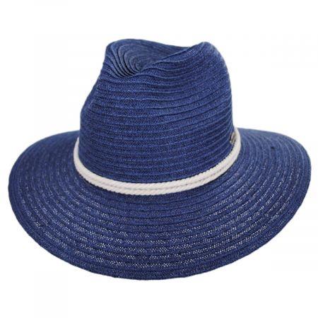 Panama Jack Costa Nova Toyo Straw Safari Fedora Hat