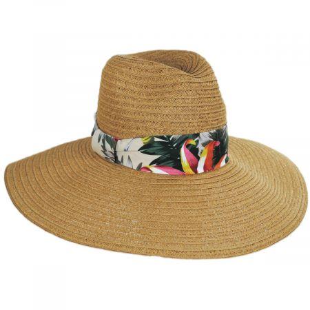 Bryah Toyo Straw Wide Brim Safari Fedora Hat alternate view 5