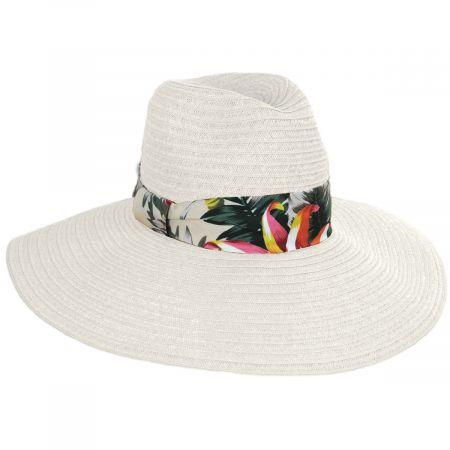 Dorfman Pacific Company Bryah Toyo Straw Wide Brim Safari Fedora Hat