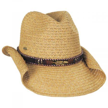 Scala Alessi Toyo Straw Western Hat