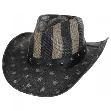 Kenny K USA Flag Toyo Straw Western Hat