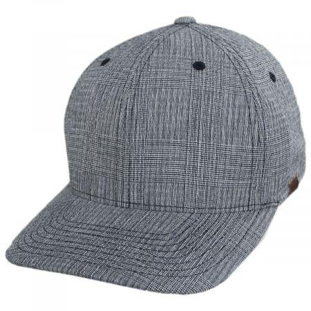 Kangol FlexFit Texture Check Plaid Fitted Baseball Cap