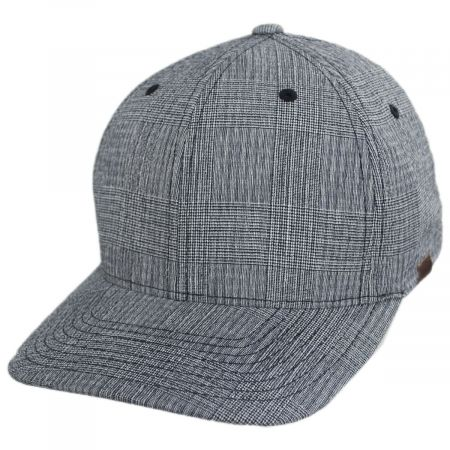FlexFit Texture Check Plaid Fitted Baseball Cap alternate view 5