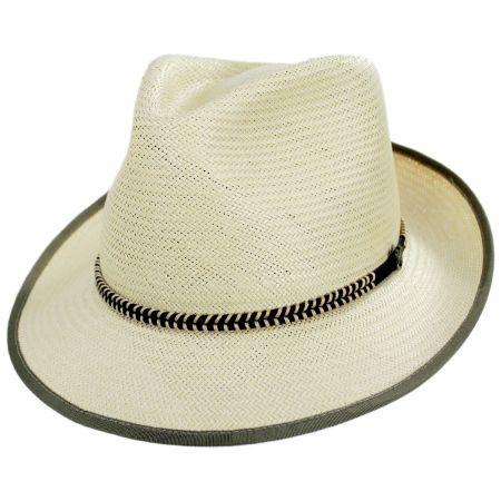 Hopper Shantung Straw Fedora Hat