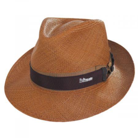 Biltmore Cassatt Reversible Band Grade 8 Panama Straw Fedora Hat