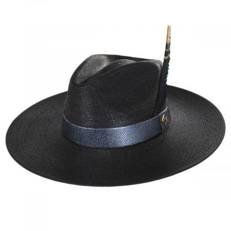 Andora Wide Brim Palm Straw Fedora Hat