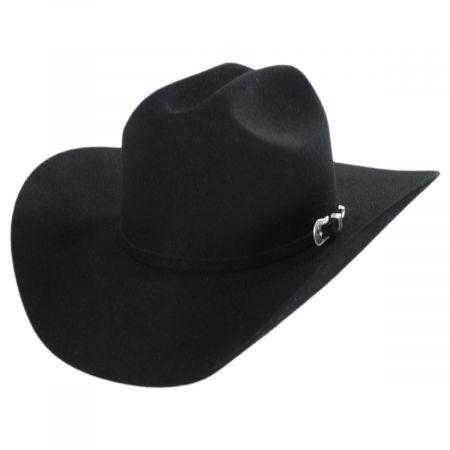 Lightning Wool and Angora Felt Western Hat - Black