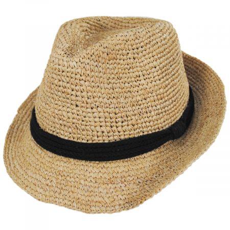 ale by Alessandra Marin Raffia Straw Fedora Hat
