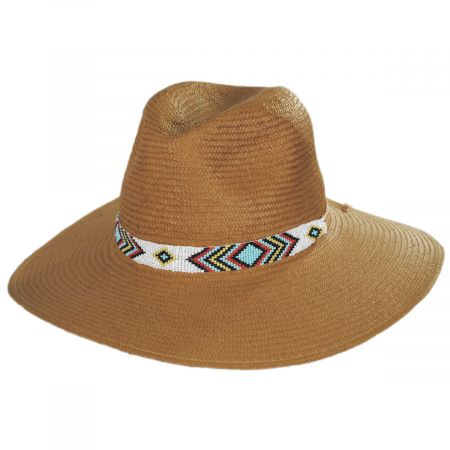 Nikki Beach Indio Toyo Straw Rancher Hat