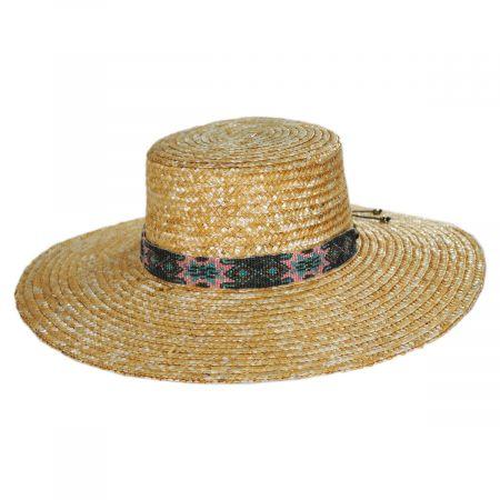 Nikki Beach Bossa Milan Straw Boater Hat