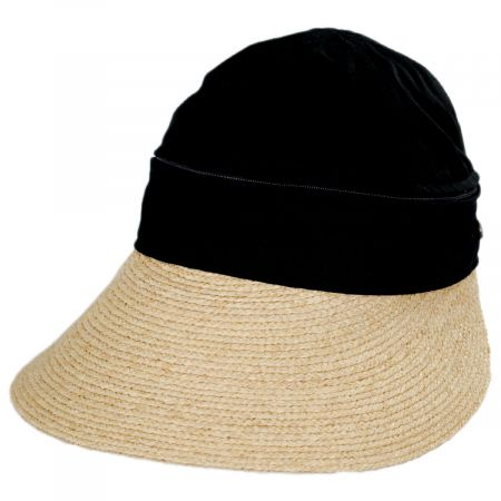 Racer Raffia Straw and Cotton Facesaver/Visor
