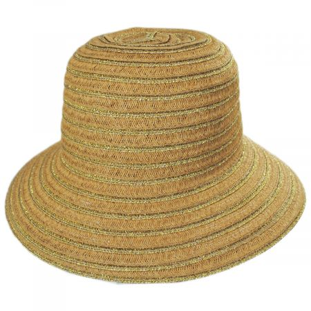 Madison Metallic Toyo Straw Cloche Hat
