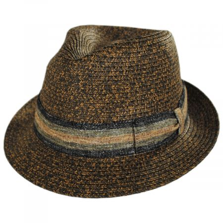 Stefeno Marco Toyo Straw Fedora Hat
