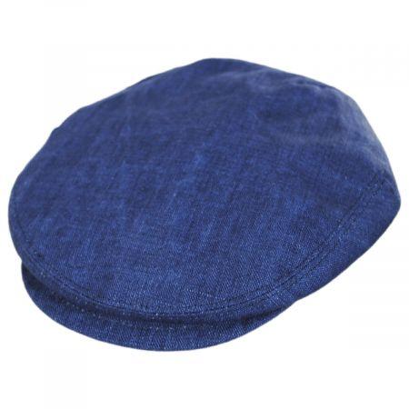 Stefeno Mattia Denim Blue Linen Ivy Cap