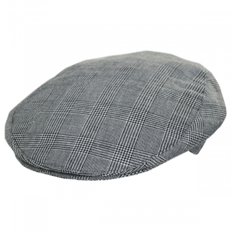 Stefeno Mel Glencheck Cotton and Linen Ivy Cap