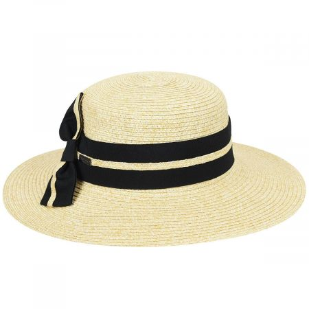 Claudine Toyo Braid Boater Hat