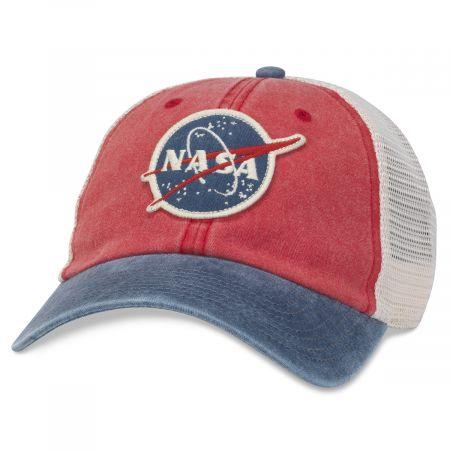 American Needle NASA Hanover Trucker Strapback Baseball Cap Dad Hat