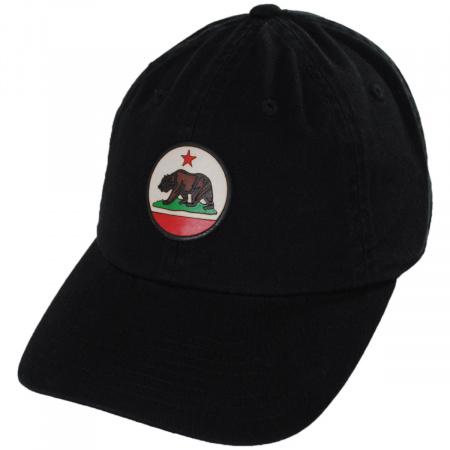 American Needle Leatherhead Cali Bear Strapback Baseball Cap Dad Hat