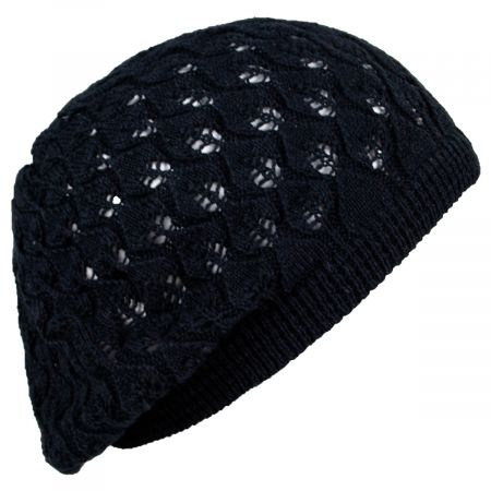 Parkhurst Gabby Cotton Knit Pointelle Beret