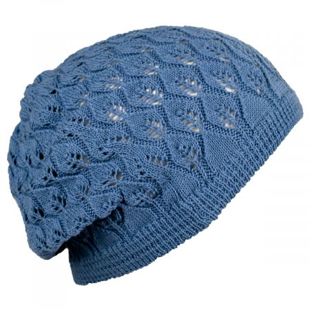 Gabby Cotton Knit Pointelle Beret alternate view 3