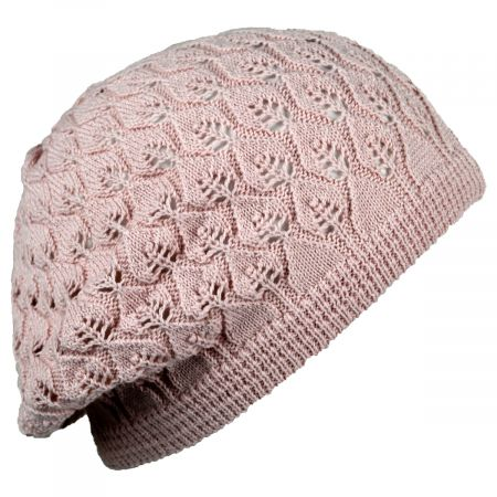 Gabby Cotton Knit Pointelle Beret alternate view 6