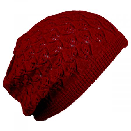 Gabby Cotton Knit Pointelle Beret alternate view 9