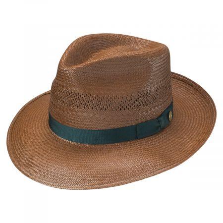 Alderton Shantung Vented Straw Fedora Hat