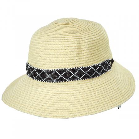 Diamante Toyo Straw Cloche Hat