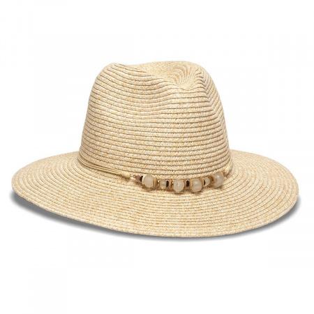 Beach Glass Toyo Straw Fedora Hat