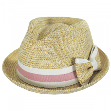 Joanne Toyo Straw Trilby Fedora Hat alternate view 9