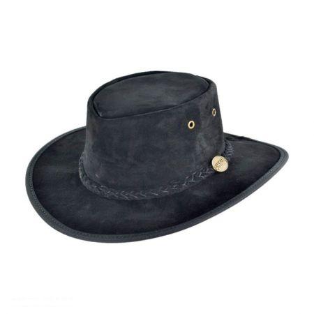 Foldaway Pig Suede Hat