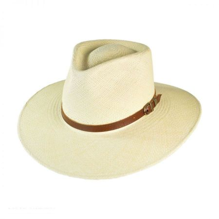 Australian Excursion Grade 3 Panama Straw Fedora Hat alternate view 6