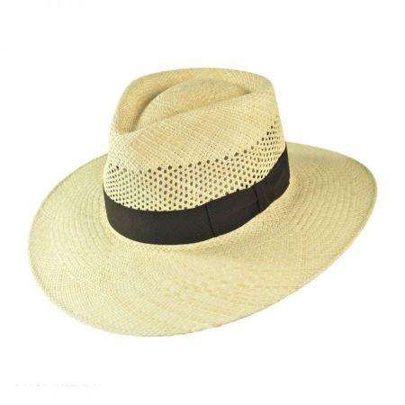 Bigalli Australian Vent Panama Fedora Hat