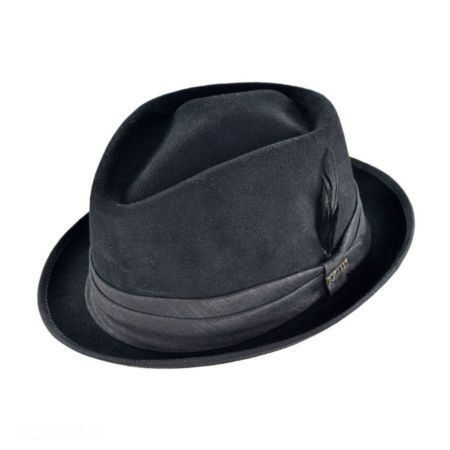 Diamond Fur Felt Stingy Brim Fedora Hat