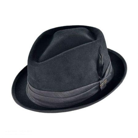 Bigalli Fur Felt Diamond Crown Fedora Hat