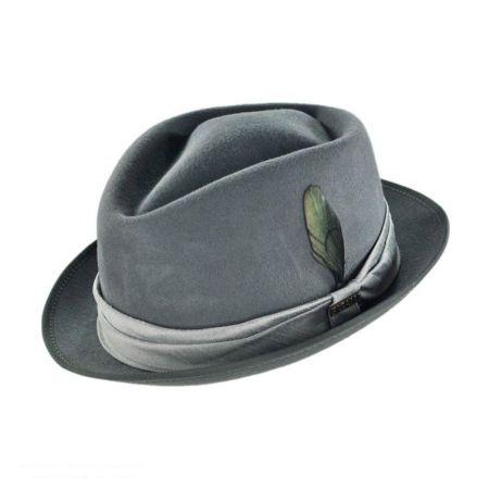 Bigalli Diamond Fur Felt Stingy Brim Fedora Hat