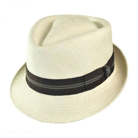 Panama Straw Diamond Crown Fedora Hat alternate view 7