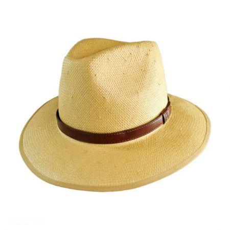 Brixton Hats Olsen Straw Fedora Hat
