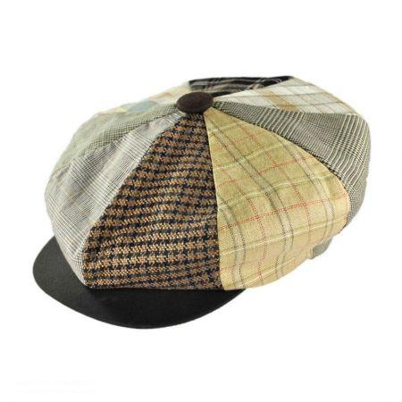 Capas Headwear Patchwork Linen Big Apple Cap