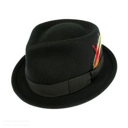 Kids' Wool Felt C-Crown Trilby Fedora Hat alternate view 4