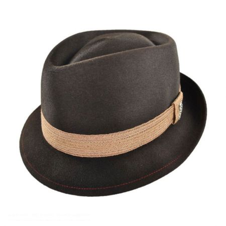 Carlos Santana Evil Ways Diamond Crown Fur Felt Fedora Hat