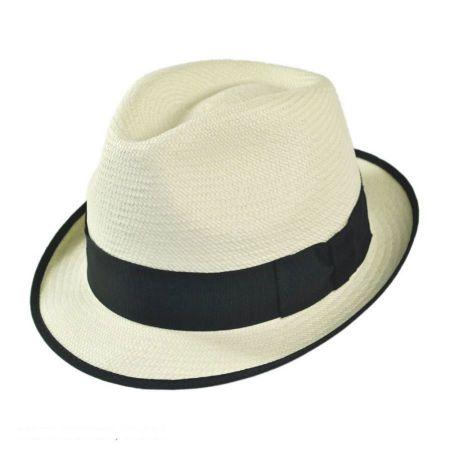 Christys' of London Panama Straw Trilby Fedora Hat