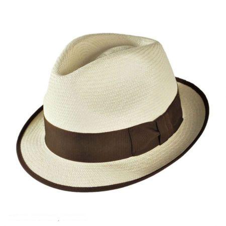 Panama Straw Trilby Fedora Hat alternate view 1