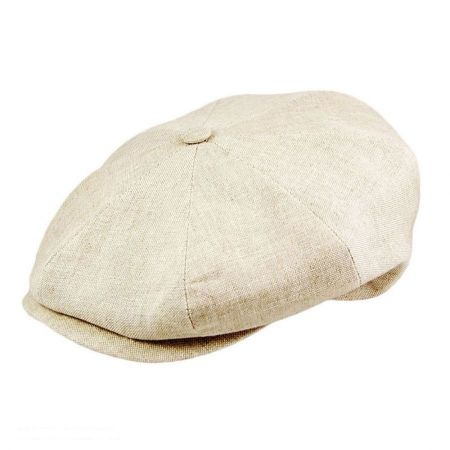 Linen Newsboy Cap alternate view 2