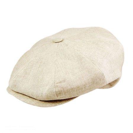 Linen Newsboy Cap