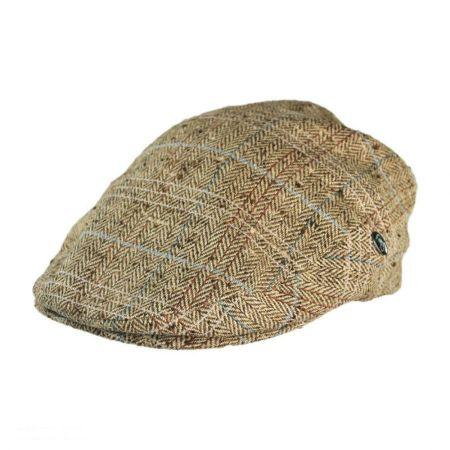 City Sport Caps Herringbone Plaid Silk Ivy Cap