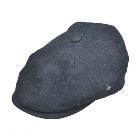 City Sport Caps Six Piece Denim Newsboy Cap