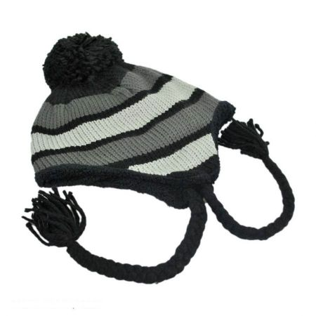 Alpine Run Knit Acrylic Peruvian Beanie Hat